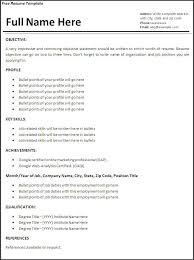 Resume Format Job Experience Resume Format