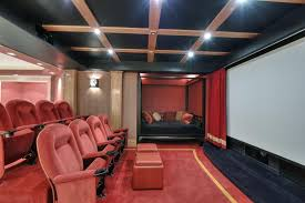 traditional home theater with carpet red velvet window theater curtain d 108 by maifa