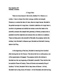 essay tragic hero a look at macbeth tragic hero english  essay tragic hero