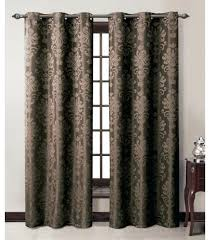 grommeted panel chocolate jacquard grommet window curtain panel how many curtain panels for sliding glass doors