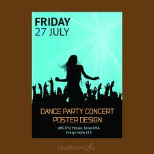 Concert Poster Design Concert Party Flyer Or Poster Design Free Vector File