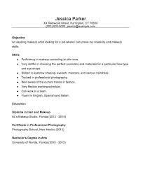 resume for makeup artist