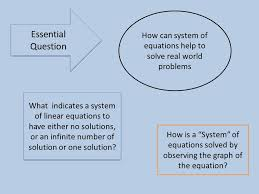 how can system of equations help to solve real world problems how is a system of