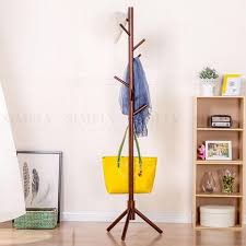 Coat Bag Rack Wooden Coat Stand Rack Clothes Hanger Hat Tree White Jacket Bag Umbrel 18