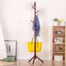hat tree rack.  Hat Wooden Coat Stand Rack Clothes Hanger Hat Tree White Jacket Bag  Umbrella Hook And