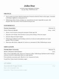 Standard Font Size And Style For Resume Best Photo Examples