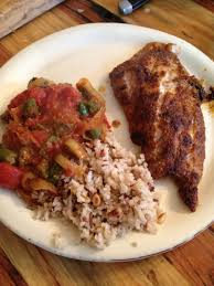 broiled grouper & spicy okra and ...