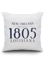 new orleans louisiana established date blue lantern press artwork 20x20 spun polyester pillow custom border com