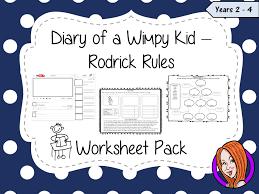 Diary of a Wimpy Kid Worksheet Pack by TheGingerTeacher - Teaching ...