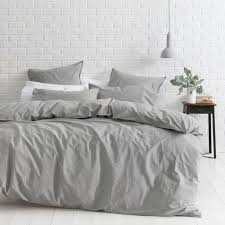 smokey grey vintage softwash cotton quilt cover set