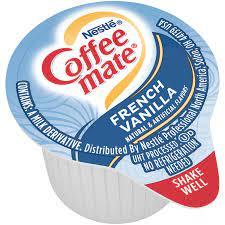 Nestle coffee mate, liquid creamer, vanilla caramel (1 tbsp). Coffee Creamer Singles French Vanilla Coffee Mate