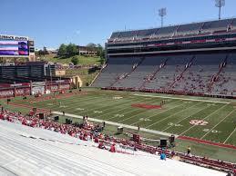 Razorback Stadium Section 102 Row 44 Seat 20 Arkansas