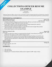 Recovery Officer Sample Resume Collections Officer Resume Resume Samples Across All Industries 38