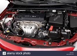2009 Toyota Corolla XRS in Red - Engine Stock Photo: 19096416 - Alamy