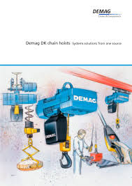 demag dk chain hoists systems solutions from one source demag demag dk chain hoists systems solutions from one source 1 28 pages