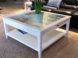 coffee tables shadow box table black glass top display with drawers sets case for s