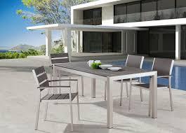 amazoncom patio furniture. Sensational Design Ideas Modern Outdoor Dining Furniture Amazon Com Zuo Metropolitan Brushed Aluminum Table Patio Tables Amazoncom