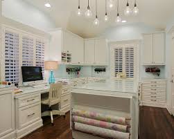 lighting craft room design. traditional craft room idea in houston with blue walls lighting design w