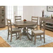 jofran slater mill pine 5pc round dining table set