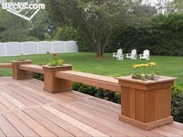 building built in deck benches decks planter box bench throughout flower boxes for deck flower boxes d28