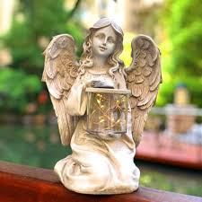 solar fairy angel led garden light