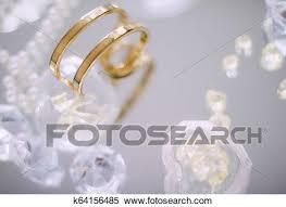 stock image gold diamond and pearl jewellery beautiful set fotosearch search stock