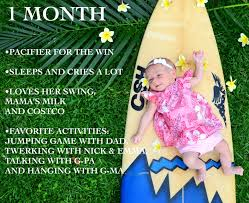 One Month Old Baby Milestone Baby Milestones 1 Month Old Pacifier Happy Hour