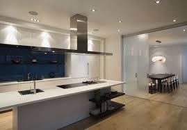 glass sheet kitchen backsplash in navy blue