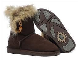 ... UGG Australia 5685 Short Fox Fur Boots For Women Chocolate ...