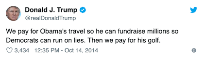 Trumps Golf Trips Could Cost Taxpayers Over 340 Million