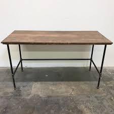 wayne desk 66x30 modern rustic wood desk