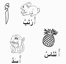 Islamic Coloring Pages For Kids Alif أ For Arabic Coloring Pages