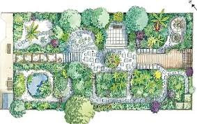 Small Picture Plan for small garden illustration by Liz Pepperell Landscape