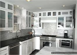 kitchen backsplash white cabinets black countertop image of kitchen tile