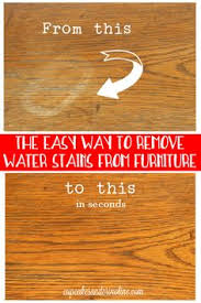 before and after parison how to remove a water stain from wood