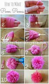 Learn how to make pom poms. You don't need any fancy tools,