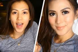 alex gonzaga poses for the camera before and after her k pop inspire makeup tutorial screengrab you
