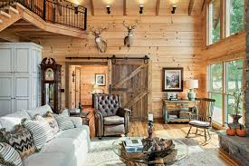 Log Cabin Living Room Concept Cool Decorating