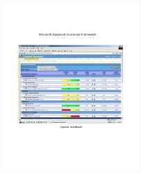 Balanced Scorecard Template Word Download Templates Balanced