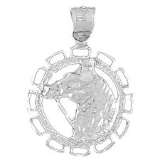 sterling silver 925 horse head pendant sterling silver pendants at jewelsobsession com