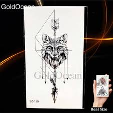 Women Small Planet Temporary Tattoo Sticker Arm Fake Tatoos Diamond Timber Makeup Tip Waterproof Tattoo Men Geometric Wolf Flora