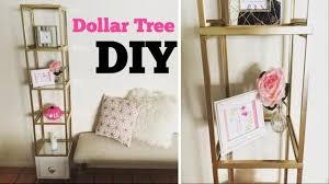 dollar tree diy glass shelf unit collab