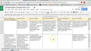 Literature Review Matrix Sample Synthesis Matrix Part 1 Youtube