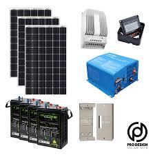 Inverter For Solar Panels Design Prodesign Offgrid Solar Kit 3 Panel 60 Cell 24v Battery