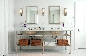 Restoration Hardware Bathroom Cabinet Elegant  Lighting On Cool Home Sink E19