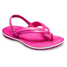 Discount Crocs Kids Flip Flops Crocs Crocband Strap Pink
