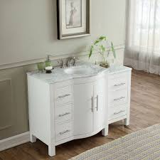 54 Inch Single Sink Contemporary Bathroom Vanity White Finish ...