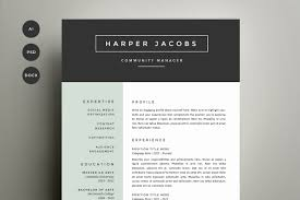 refinery resume co creative market resume template 4 pack