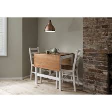annika dropleaf dining table with 2 chairs natural
