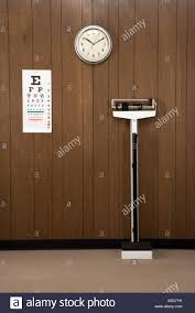 Dr Office Eye Chart Retro Doctor S Office With Wood Paneling Clock Eye Chart And